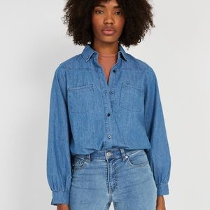 Frank & Oak | Western Denim Blouse